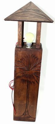 Lampe africaine sur pied-7963