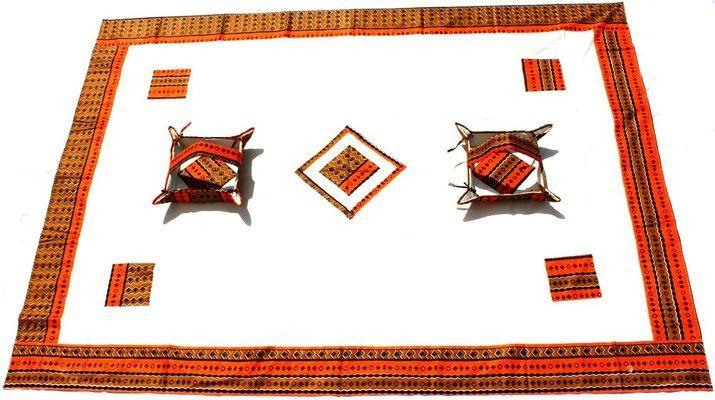 Nappe rectangulaire de table africaine 8 places